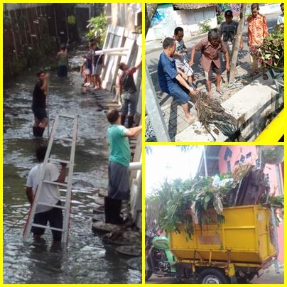 Gerakan Bersih Sungai (GBS)  Bersama Masyarakat disekitar Bantaran Sungai Manunggal Kota Yogyakarta